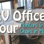 Tour of our RV Office – Computer Monitors and Rolling Chairs in Motion 11