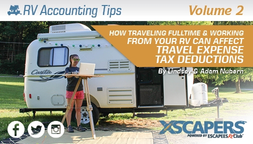 How Traveling Full-Time & Working from your RV Affects Travel Expense Tax Deductions 1