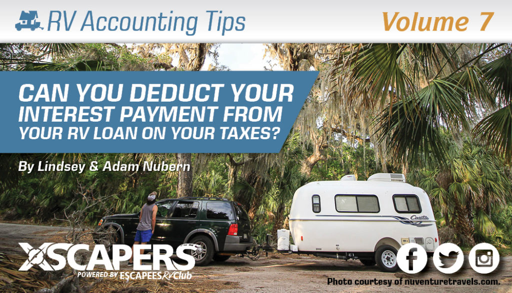 Can You Deduct Your Interest Payment from Your RV Loan on Your Taxes? 3