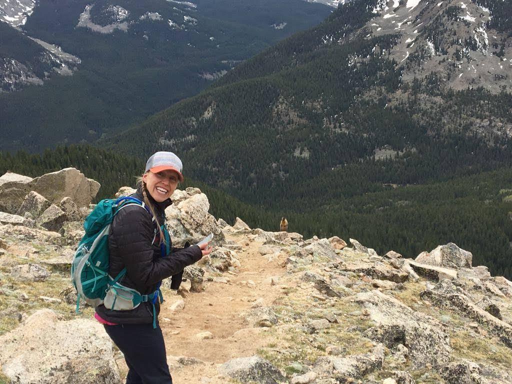 Julie & Marmot, Mt. Yale, CO