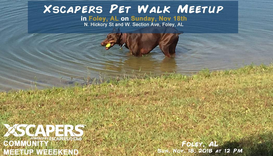 Foley, AL Community Pet Walk Meetup 1