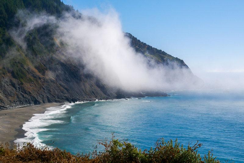 Southern Oregon Coast fog off of water