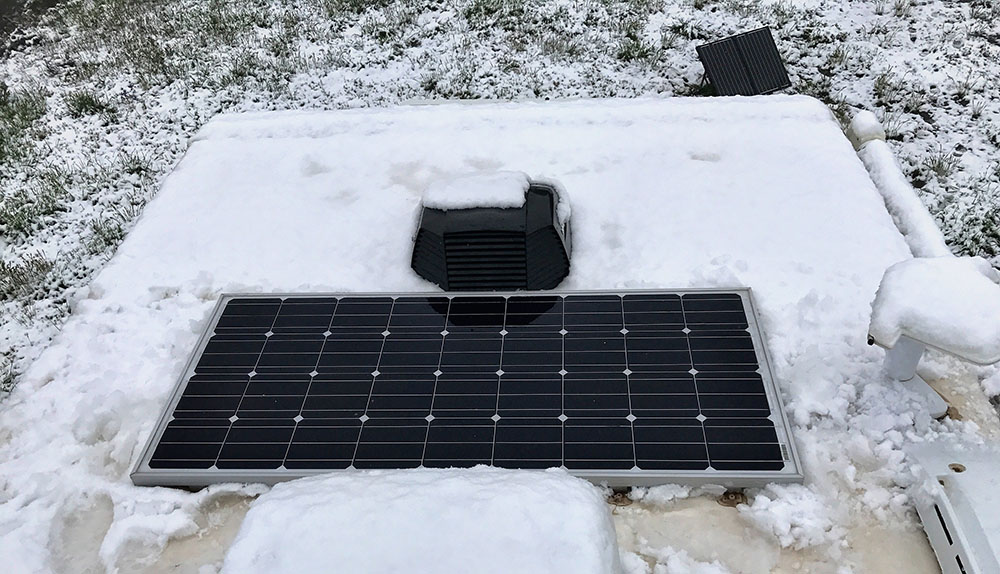Rooftop Solar Panel and Snow