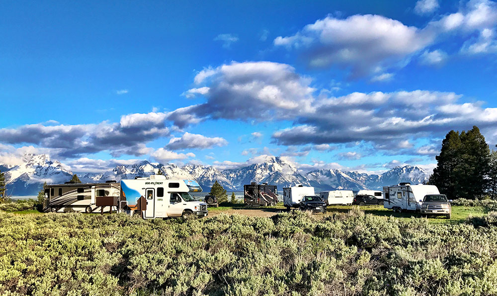 Upper Teton View boondocking