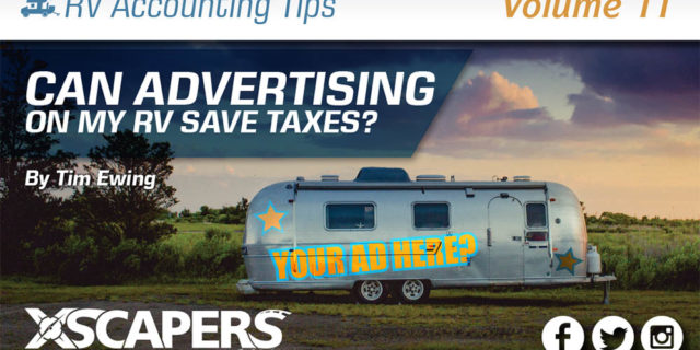 Can Advertising on my RV Save Taxes? 264