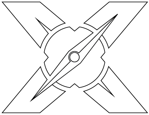 Xscapers X Tattoo Logo Outlines