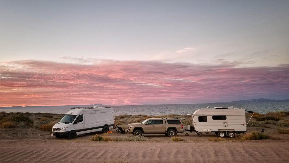 La Paz Mexico Beach Camping