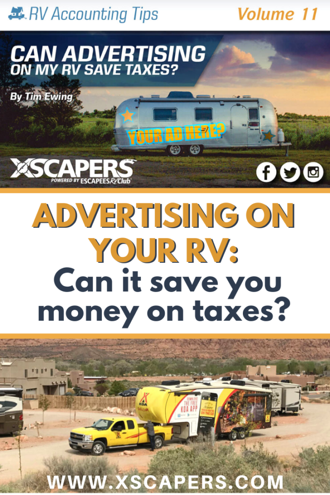 Can Advertising on my RV Save Taxes? 3