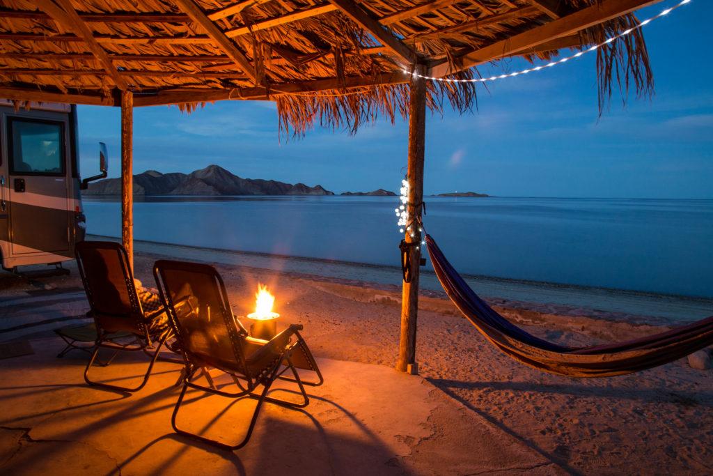 RV camping in Baja California