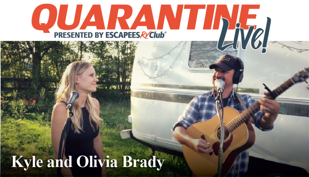 Kyle and Olivia Brady singing