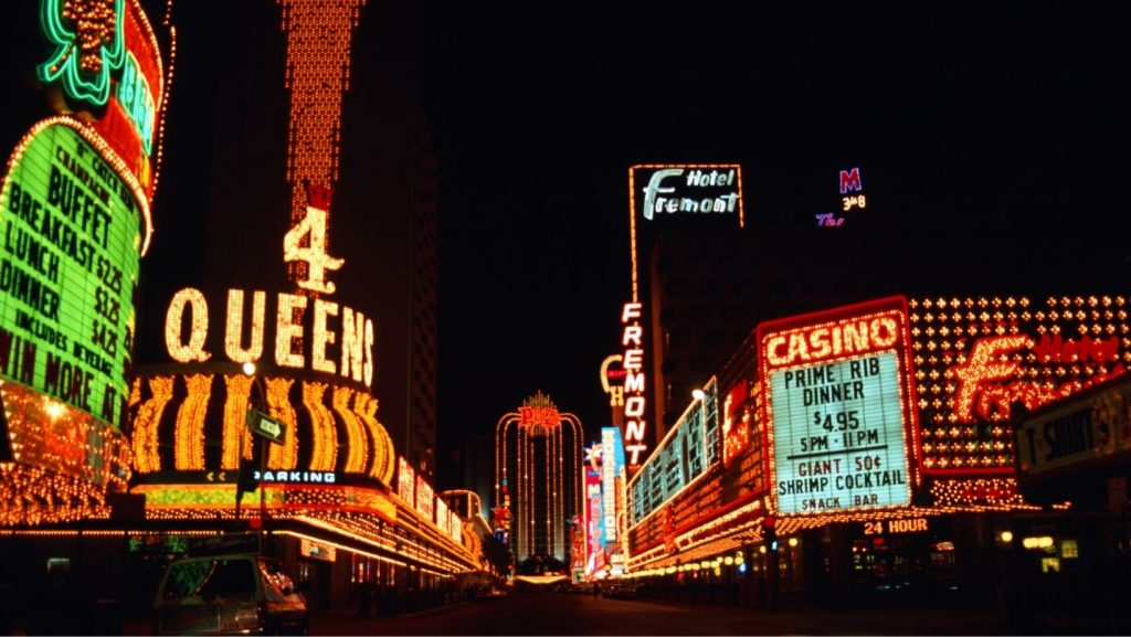 Fremont Street Las Vegas, great for party RVers