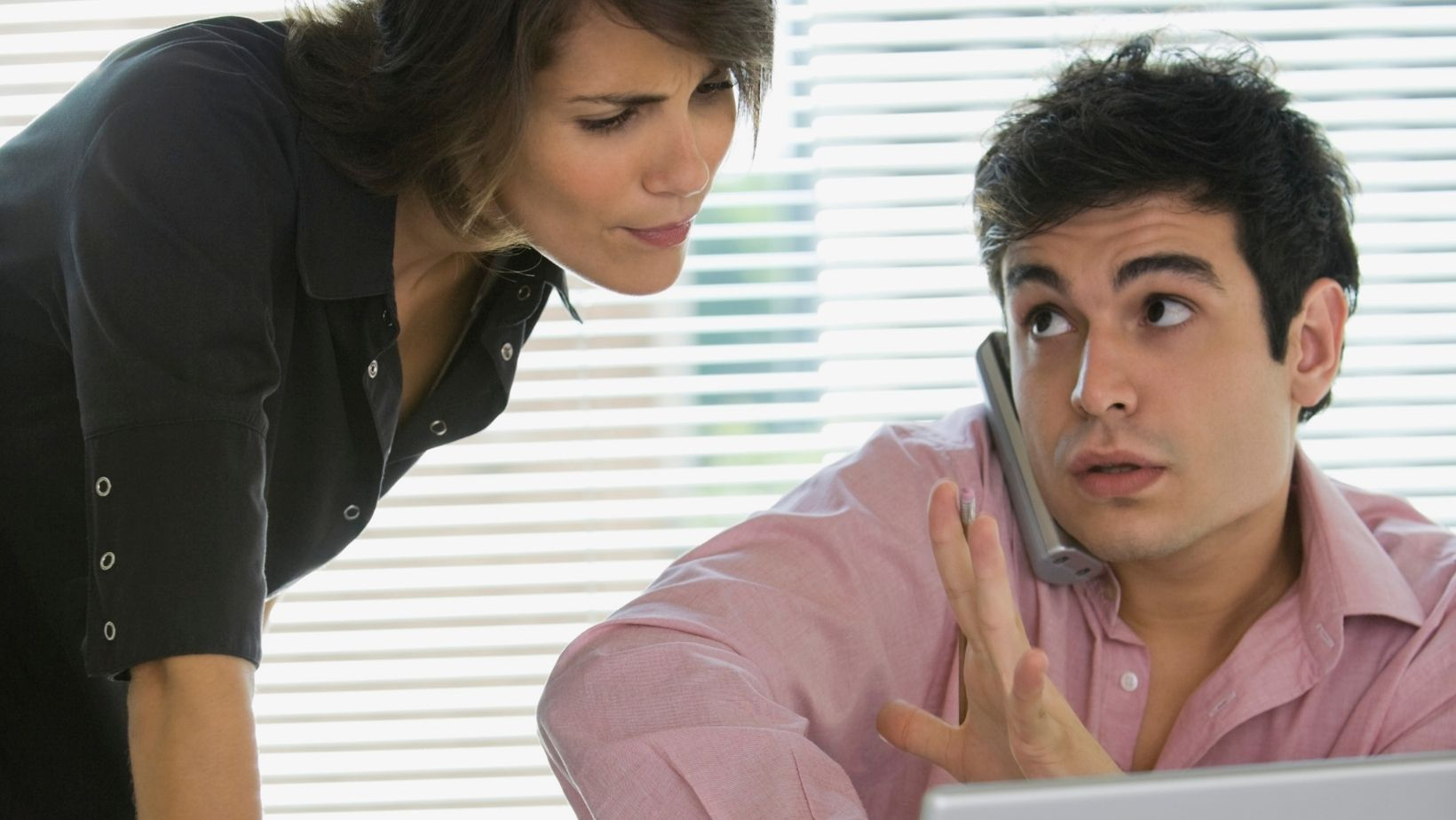 Employee interrupts coworker during phone call