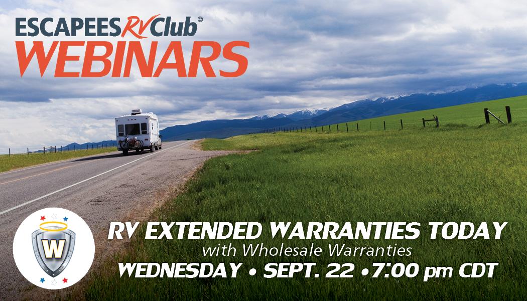 Webinar header image for RV Extended Warranties